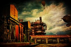 SteamPunk świat Fotografia Stock