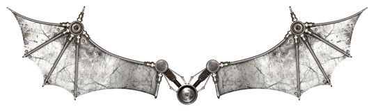 Steampunk Wings Bat Isolated Royalty Free Stock Photography