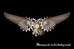 Steampunk wings stock illustration