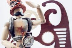Steampunk wooden dummy. Stock Photo
