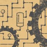 Steampunk wzór Fotografia Stock