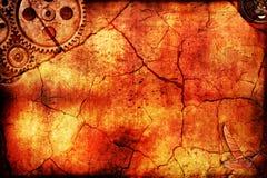 Steampunkdocument textuur Stock Afbeeldingen