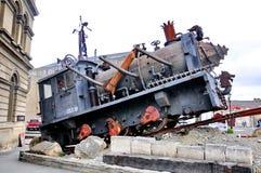 Steampunkhk, beeldt een industriële versie van steampunk af stock afbeelding