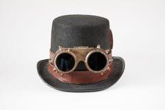 Steampunkhoed en beschermende brillen Stock Fotografie