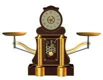 Steampunkklok Royalty-vrije Stock Afbeeldingen