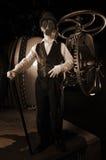 Steampunkscène Royalty-vrije Stock Afbeeldingen