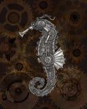 Steampunkstijl seahorse stock fotografie