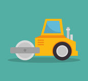 Steamroller construction icon design Royalty Free Stock Image