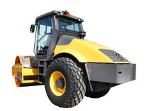 Steamroller machine Royalty Free Stock Images