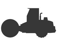 Steamroller machine icon Stock Images