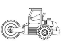 Steamroller machine icon Stock Image