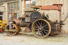 Steamroller old machine Royalty Free Stock Image