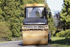 Steamroller. A Steamroller used to smooth or flatten asphalt on roads Royalty Free Stock Images