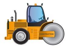 Steamroller yellow car vector design model. Stock Images