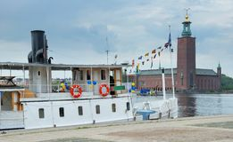 Steamship. Royalty Free Stock Photography