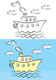 Steamship illustration Royalty Free Stock Images