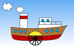 Steamship Royalty Free Stock Image