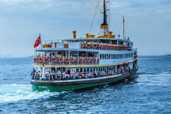 Steamship in stanbul city Stock Image