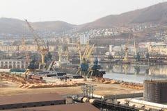 Steamship under loading Stock Image