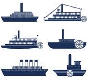 Steamship. Vector illustration (EPS 10 Stock Images