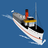 Steamship viewed from above Royalty Free Stock Photo
