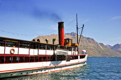 Steamship on Wakatipu lake, Queenstown Stock Images