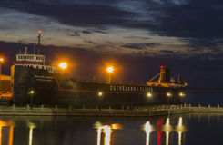 Steamship William G. Mather Museum - night Royalty Free Stock Photography