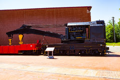 Steamtown National Historic Site Crane Car Stock Image