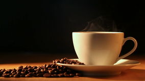 Steamy Coffee stock video footage