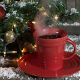 Steamy Cup of Coffee Stock Photos