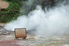 Steamy hot spring Royalty Free Stock Photos