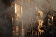 Steamy New York facade Stock Image