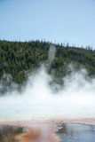 Steamy Pool. The Prismatic Springs at Yellowstone National Park. The pool was very beautiful and I took pictures from many angles Royalty Free Stock Image