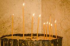 Stearin i kloster Kovilj Royaltyfri Foto