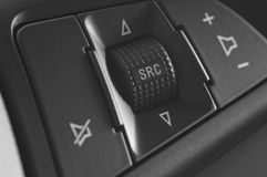 Stearing wheel control buttons Stock Photos