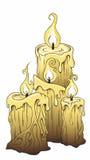 stearinljus royaltyfri illustrationer