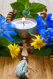 Stearinljus All helgon`-dag Royaltyfria Foton
