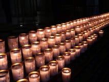 stearinljus av bönen Arkivfoto