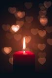 Stearinljus av förälskelse Arkivfoton