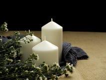 stearinljus blommatabell royaltyfri foto