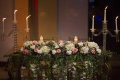 stearinljus blommor Royaltyfri Bild