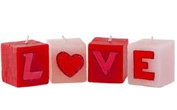 stearinljus förälskelse arkivbild