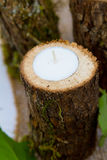 Stearinljus för dekor för bröllopmottagande Arkivbild
