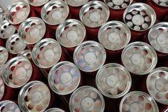 Stearinljus för den till salu kyrkogården arkivfoton