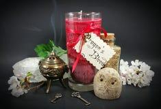 Stearinljus för pass för drakeblod Royaltyfria Foton