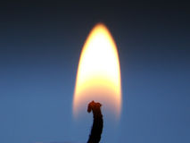 stearinljus flamma Arkivfoto