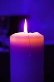 Stearinljus flamma, ljus Arkivfoton