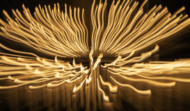 Stearinljus flamma, suddig rörelse moder två för färgdotterbild Arkivfoton