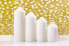 stearinljus fyra white Royaltyfri Bild