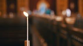 Stearinljus i Christian Church lager videofilmer